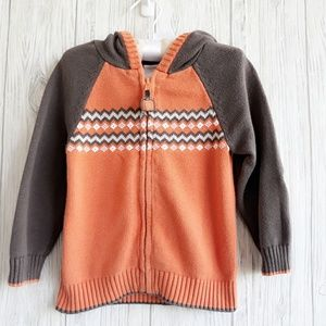 Gymboree Pumpkin Hooded Sweater size 2T
